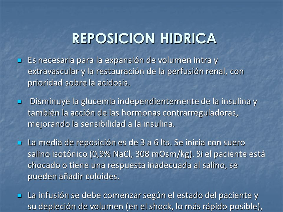 REPOSICION HIDRICA