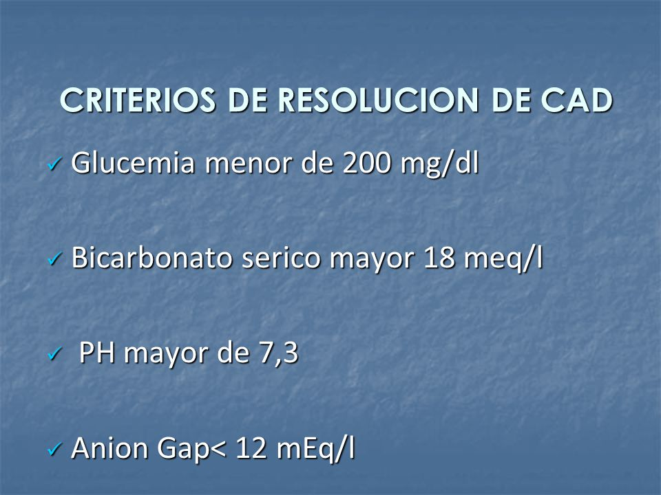 CRITERIOS DE RESOLUCION DE CAD
