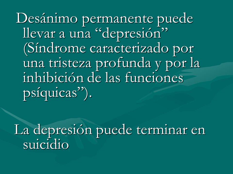 La depresión puede terminar en suicidio