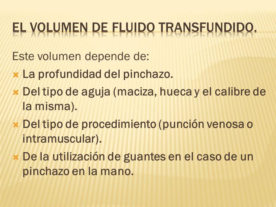 EL VOLUMEN DE FLUIDO TRANSFUNDIDO.