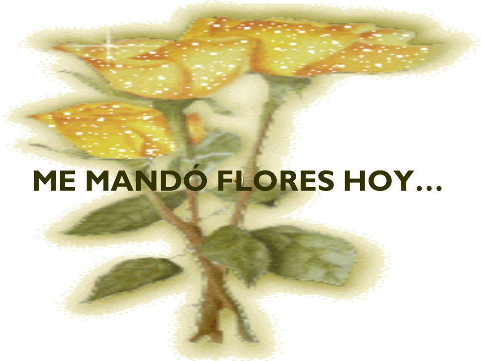 ME MANDÓ FLORES HOY…
