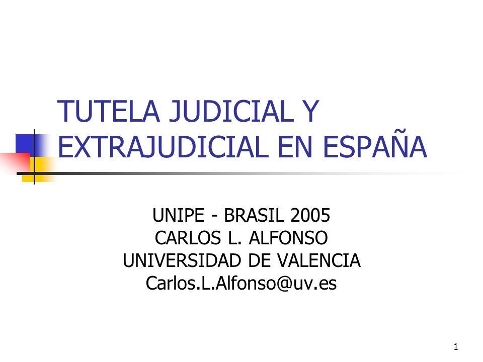 TUTELA JUDICIAL Y EXTRAJUDICIAL EN ESPAÑA