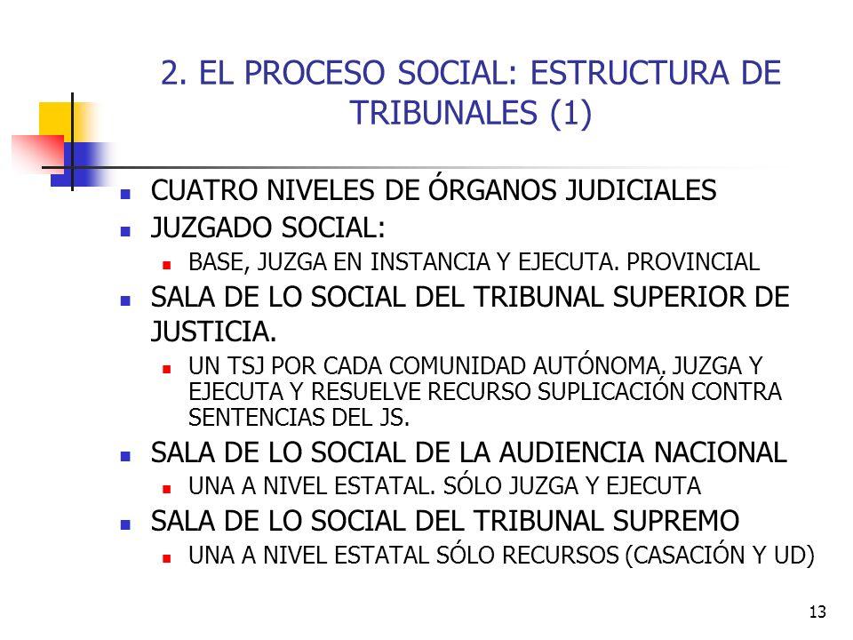 2. EL PROCESO SOCIAL: ESTRUCTURA DE TRIBUNALES (1)