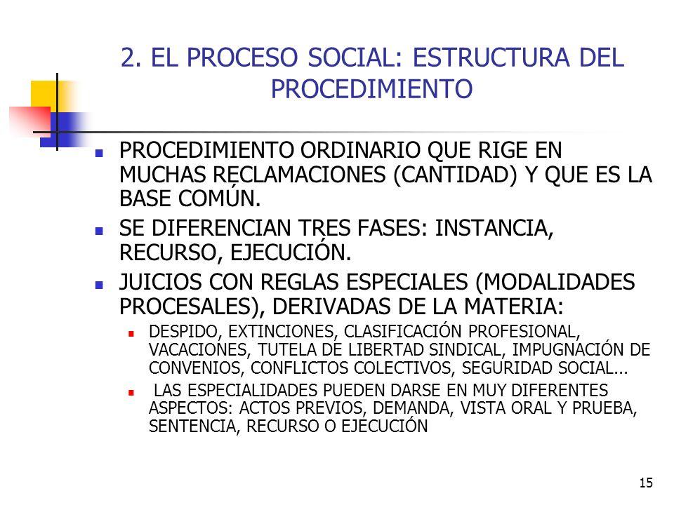 2. EL PROCESO SOCIAL: ESTRUCTURA DEL PROCEDIMIENTO