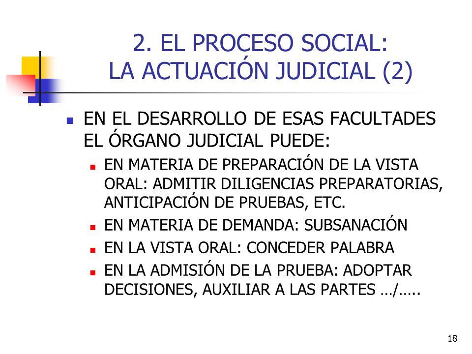 2. EL PROCESO SOCIAL: LA ACTUACIÓN JUDICIAL (2)
