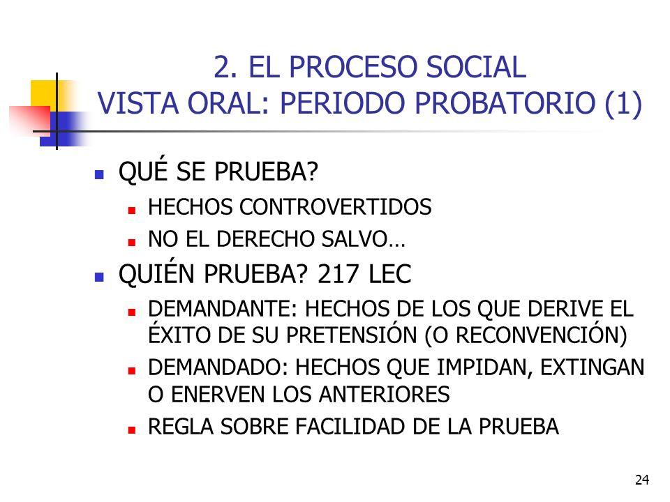 2. EL PROCESO SOCIAL VISTA ORAL: PERIODO PROBATORIO (1)