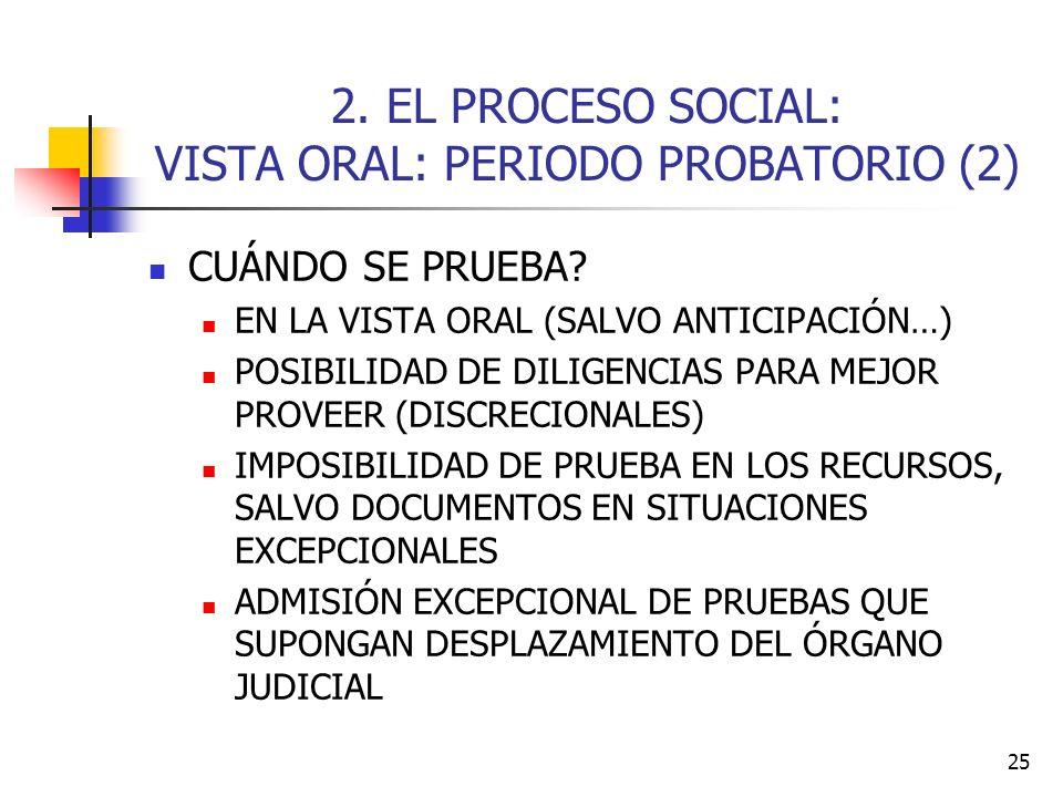 2. EL PROCESO SOCIAL: VISTA ORAL: PERIODO PROBATORIO (2)
