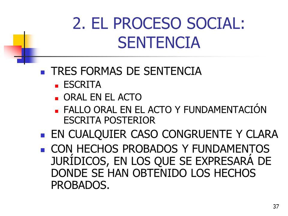 2. EL PROCESO SOCIAL: SENTENCIA