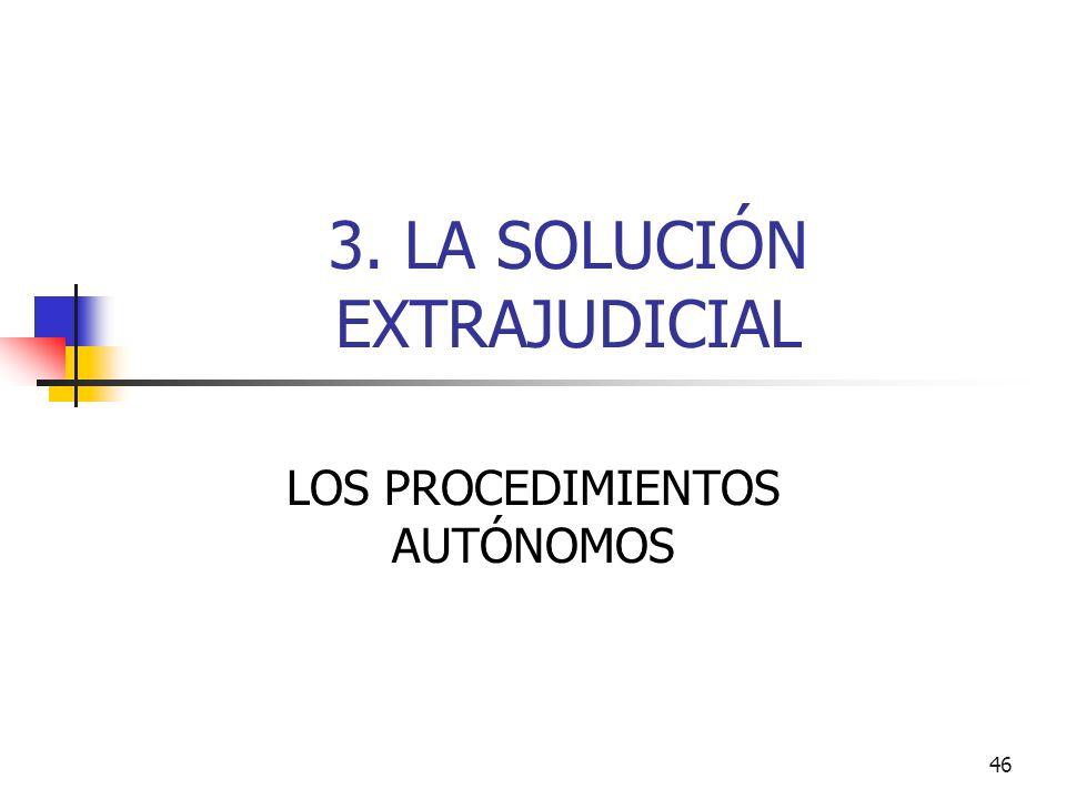 3. LA SOLUCIÓN EXTRAJUDICIAL