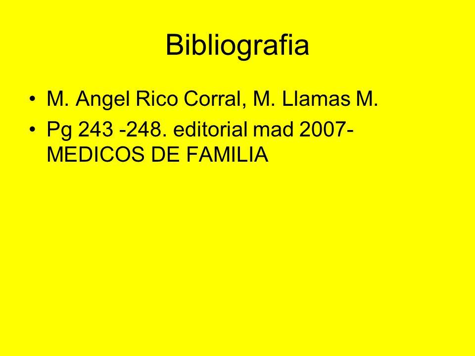 Bibliografia M. Angel Rico Corral, M. Llamas M.