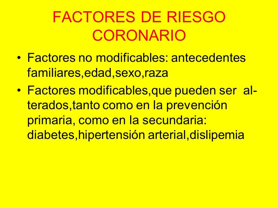 FACTORES DE RIESGO CORONARIO