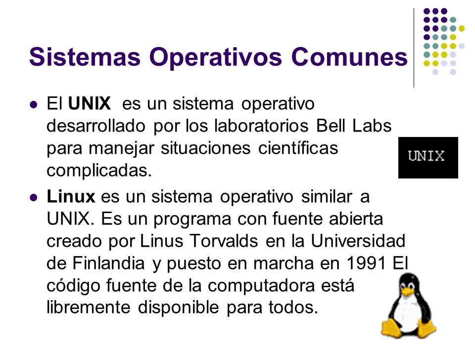 Sistemas Operativos Comunes