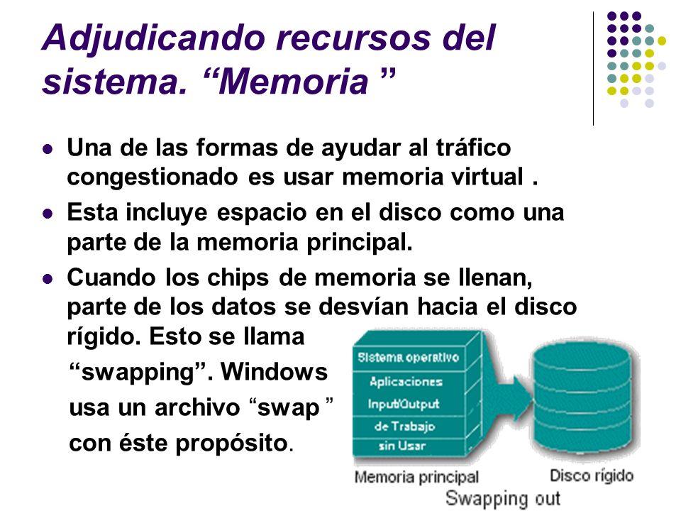 Adjudicando recursos del sistema. Memoria