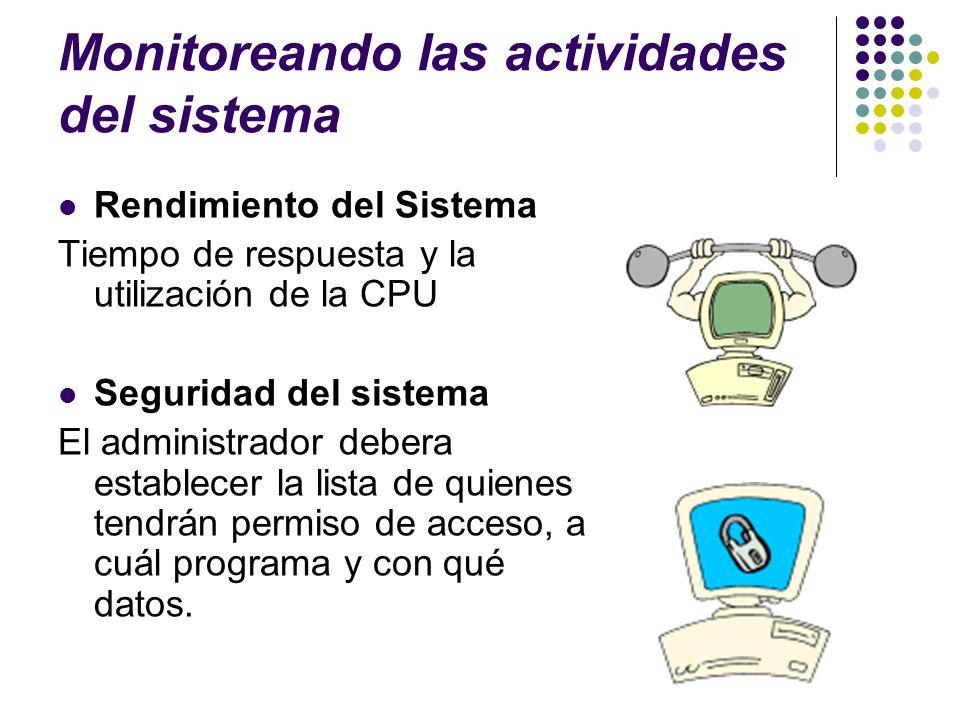 Monitoreando las actividades del sistema