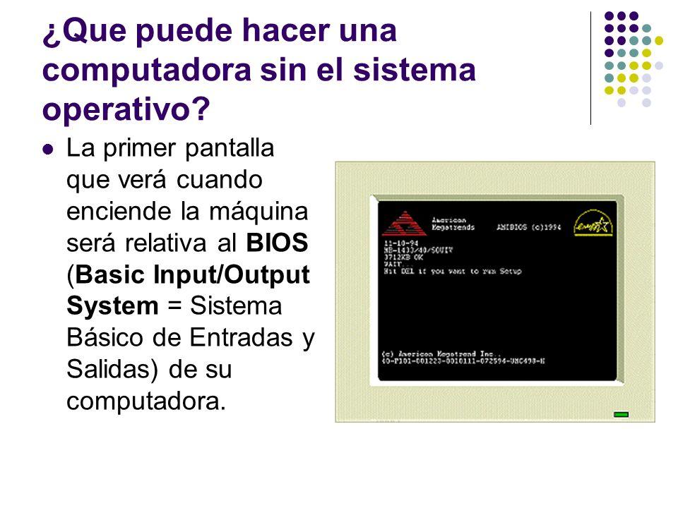 ¿Que puede hacer una computadora sin el sistema operativo