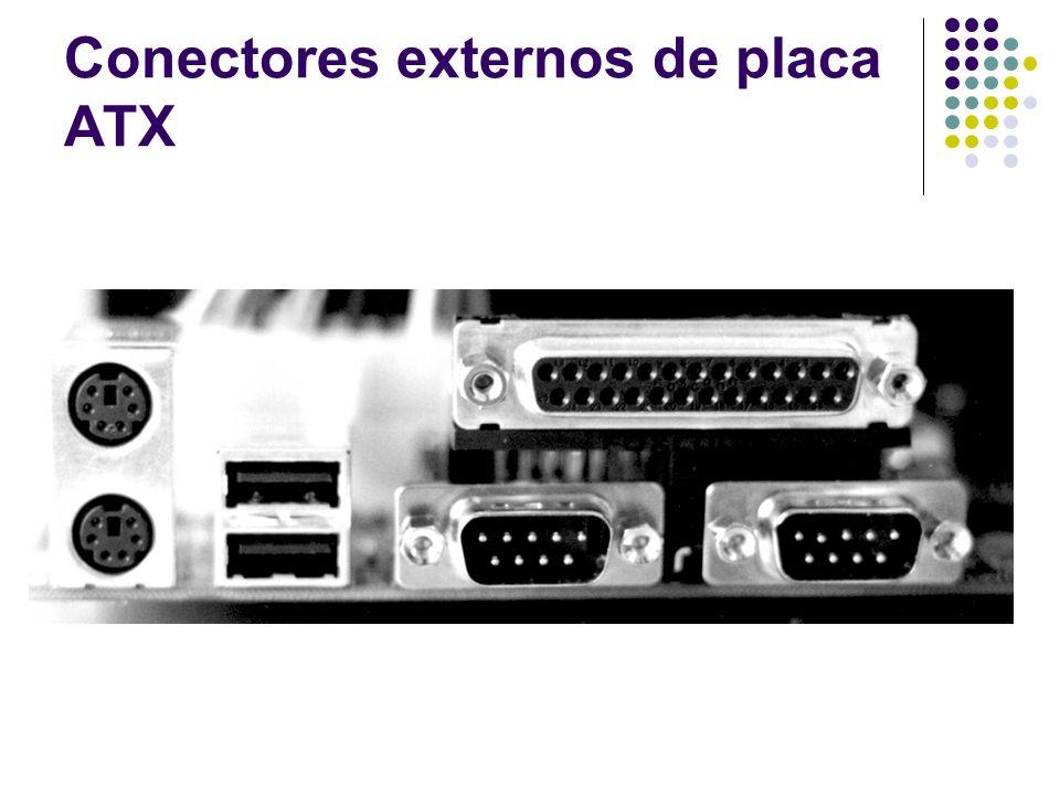 Conectores externos de placa ATX