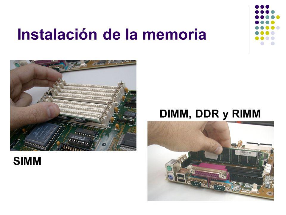 Instalación de la memoria