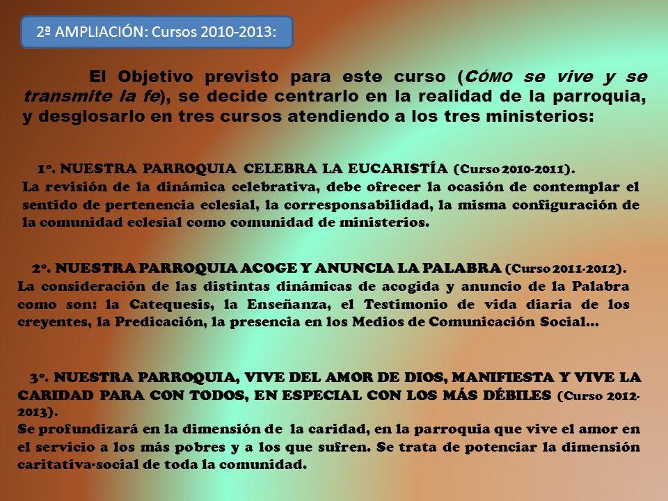 2ª AMPLIACIÓN: Cursos 2010-2013: