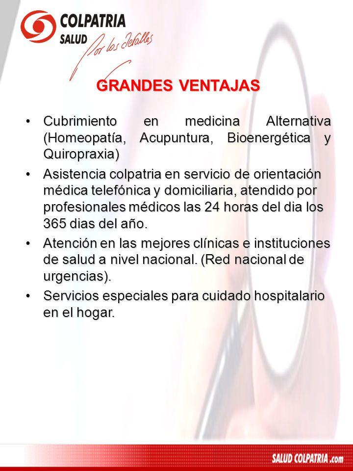 GRANDES VENTAJASCubrimiento en medicina Alternativa (Homeopatía, Acupuntura, Bioenergética y Quiropraxia)
