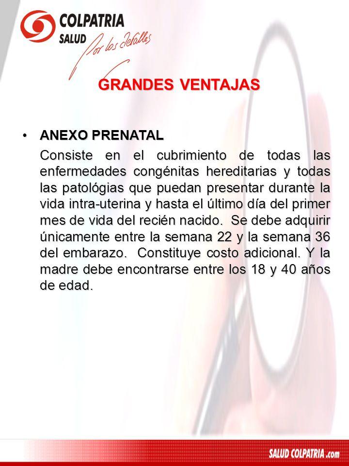 GRANDES VENTAJAS ANEXO PRENATAL