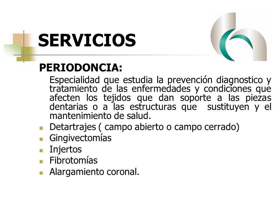 SERVICIOS PERIODONCIA: