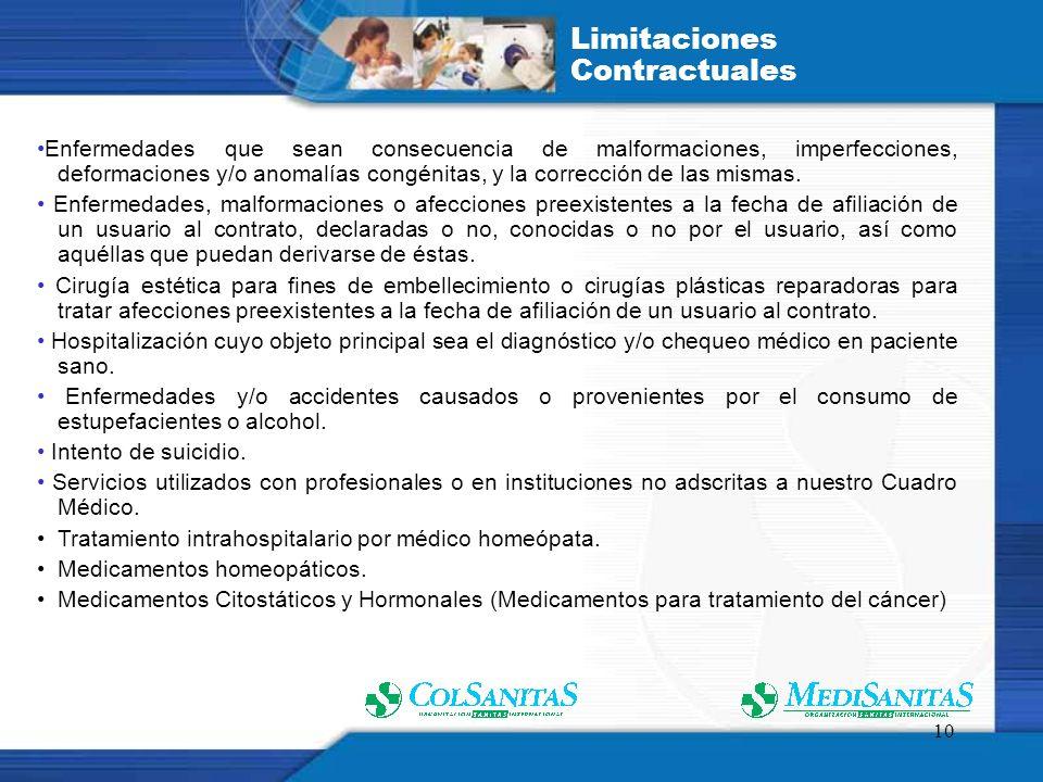 Limitaciones Contractuales
