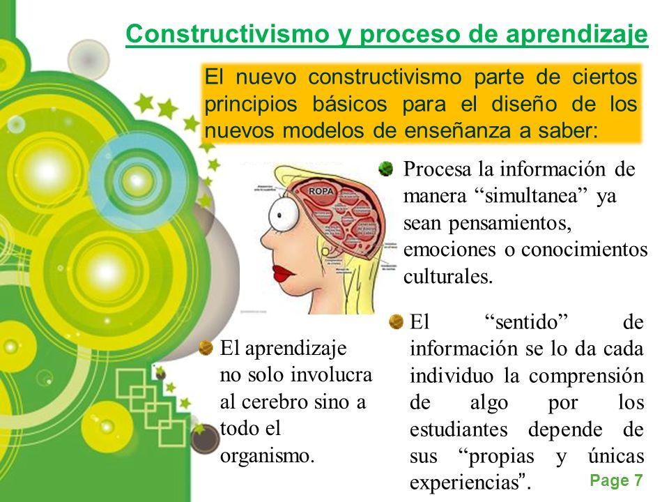 Constructivismo y proceso de aprendizaje