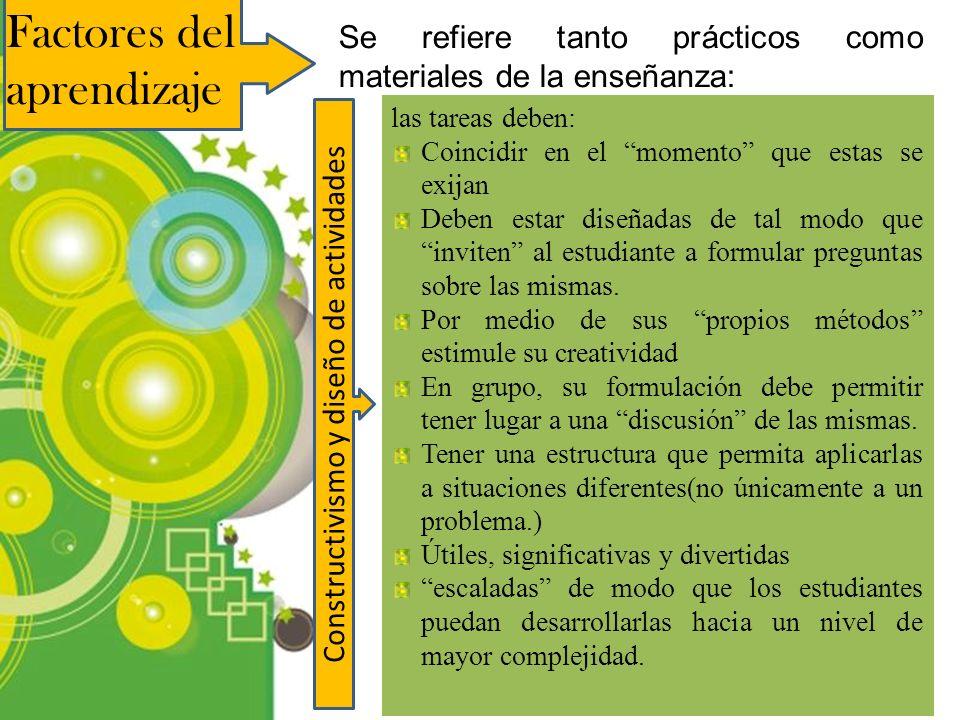 Constructivismo y diseño de actividades