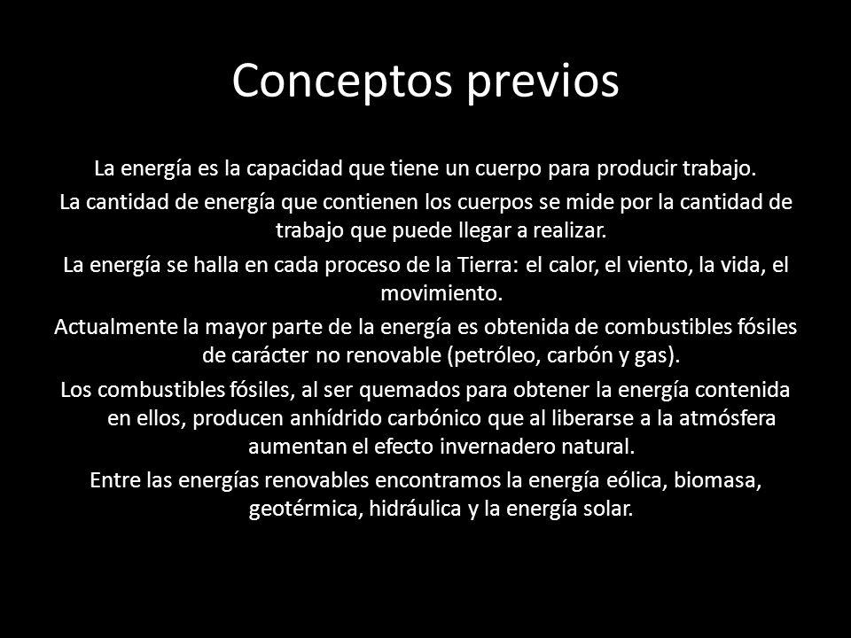 La energía es la capacidad que tiene un cuerpo para producir trabajo.