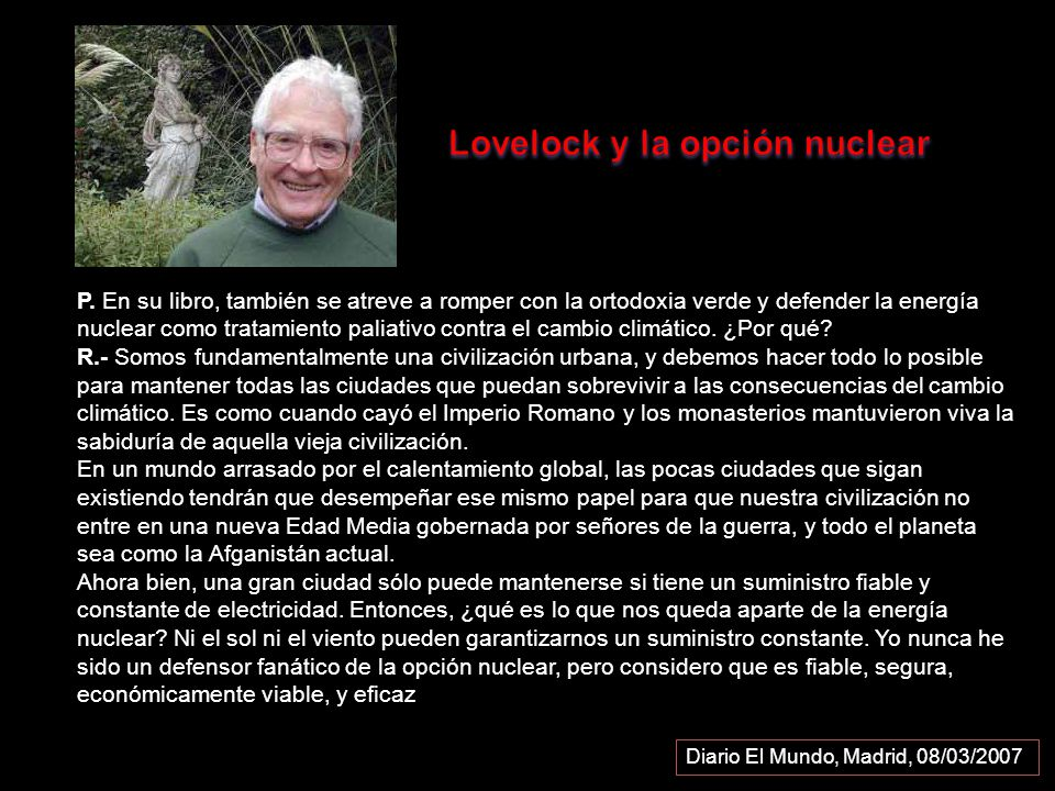 Lovelock y la opción nuclear