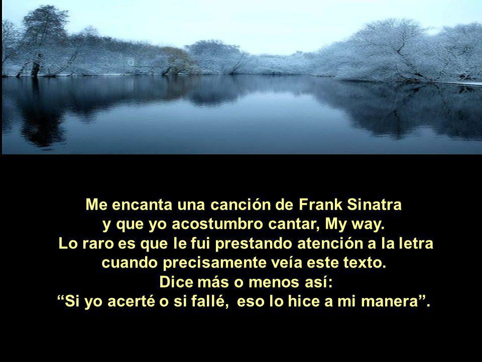 Me encanta una canción de Frank Sinatra