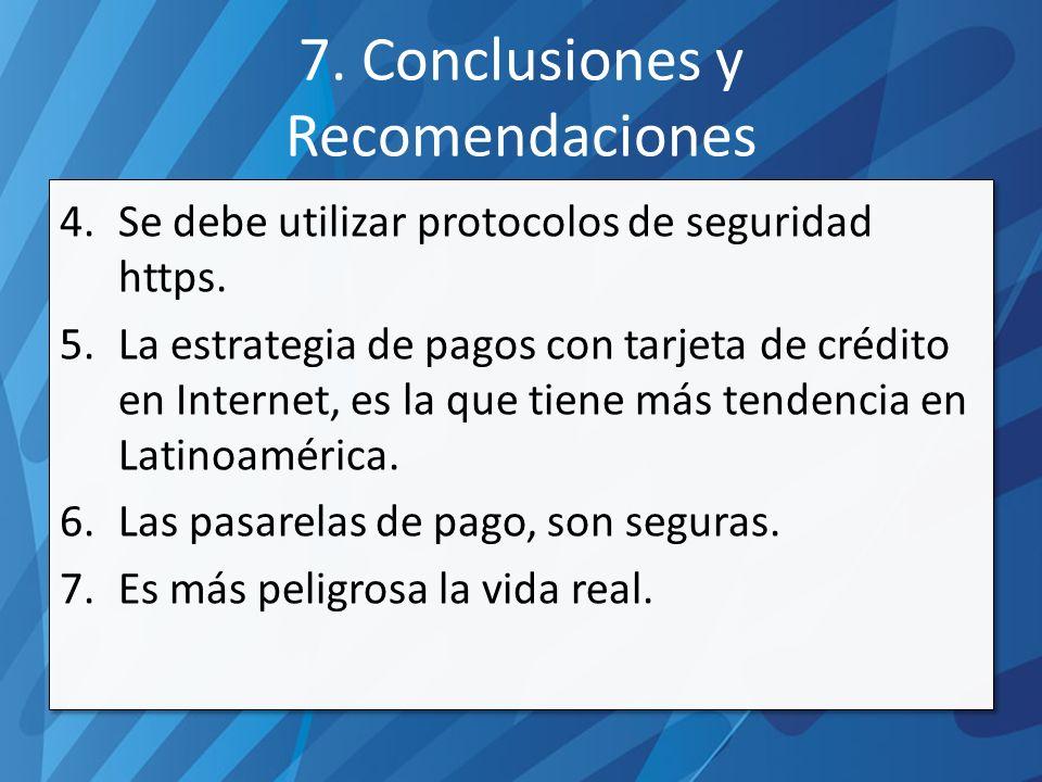 7. Conclusiones y Recomendaciones