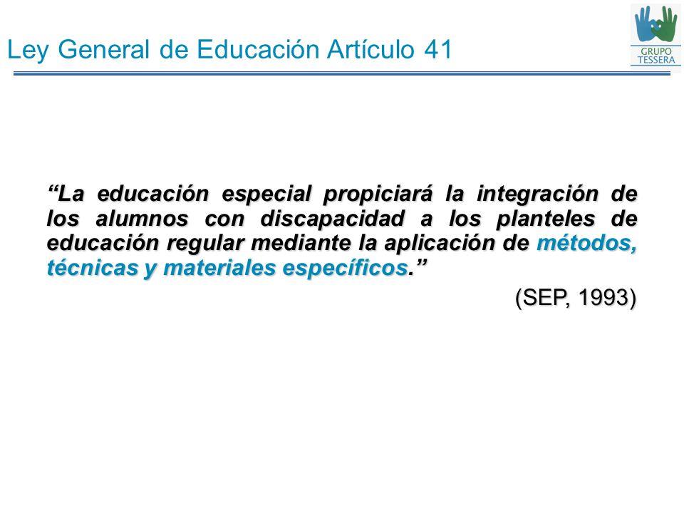 Ley General de Educación Artículo 41