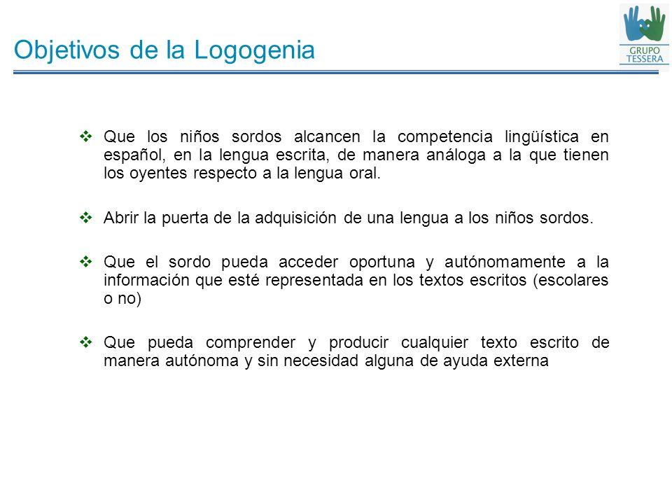 Objetivos de la Logogenia