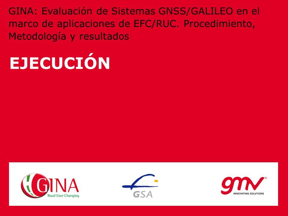 GINA: Evaluación de Sistemas GNSS/GALILEO en el marco de aplicaciones de EFC/RUC. Procedimiento, Metodología y resultados