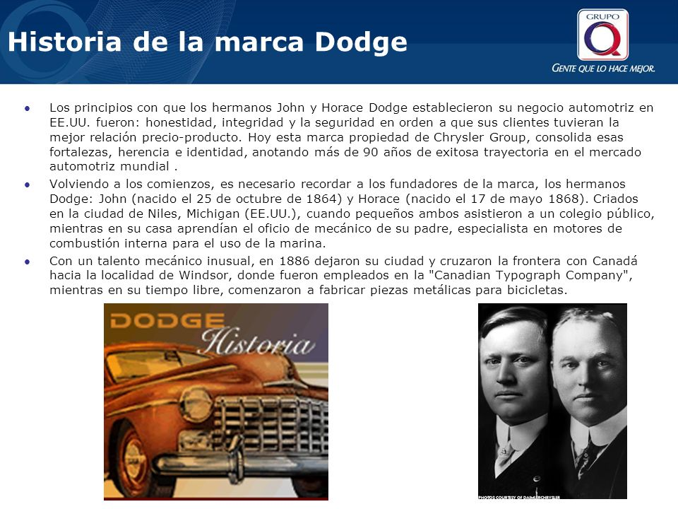 Historia de la marca Dodge