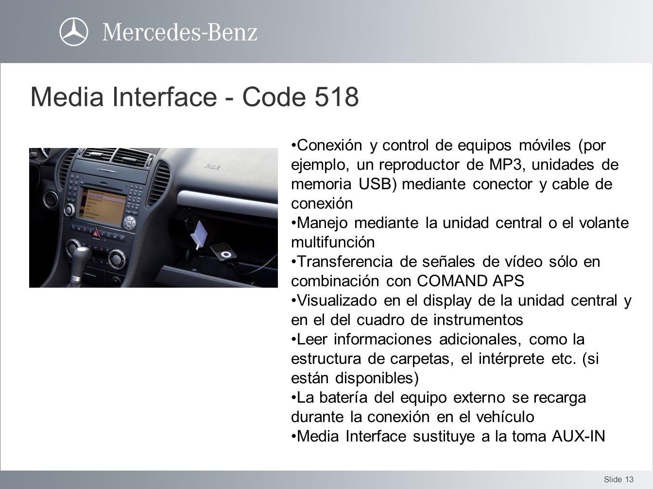 Media Interface - Code 518