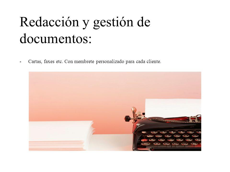 Redacción y gestión de documentos: