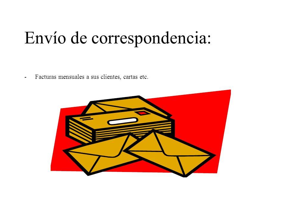Envío de correspondencia:
