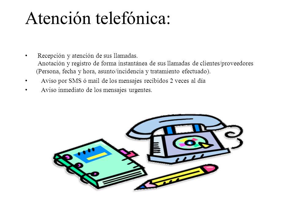 Atención telefónica: