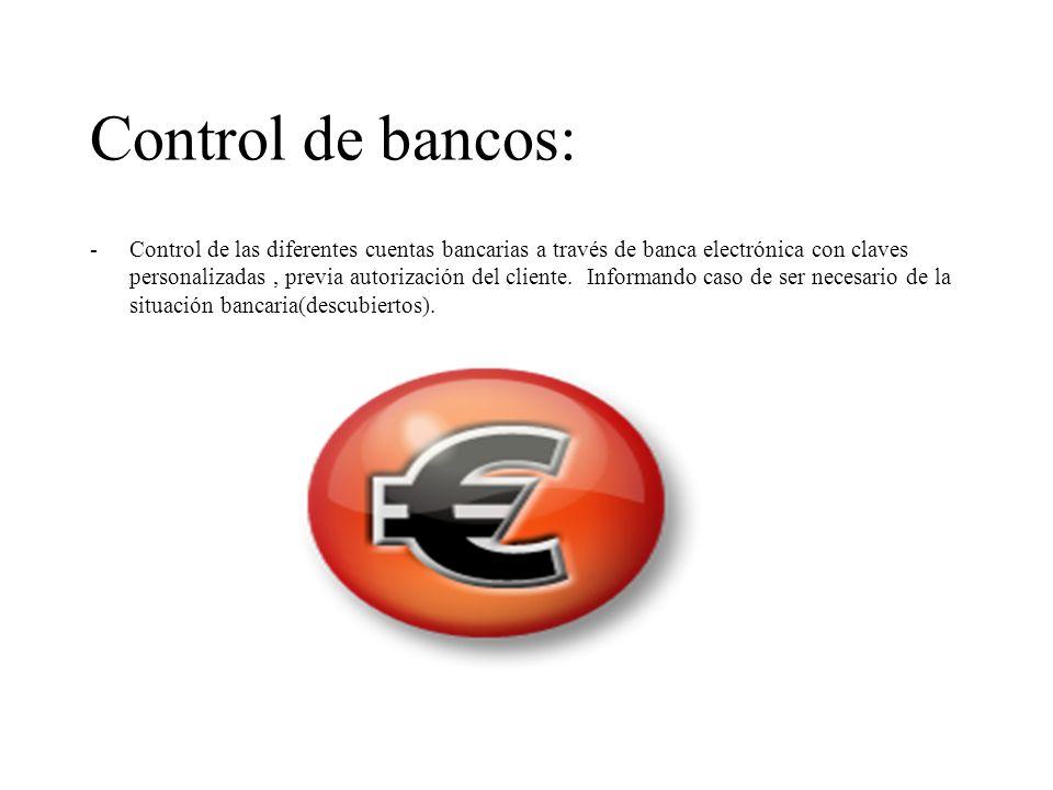 Control de bancos: