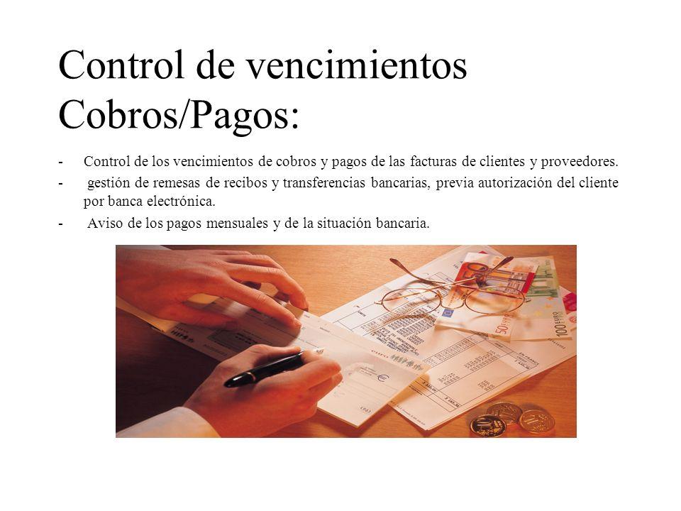 Control de vencimientos Cobros/Pagos: