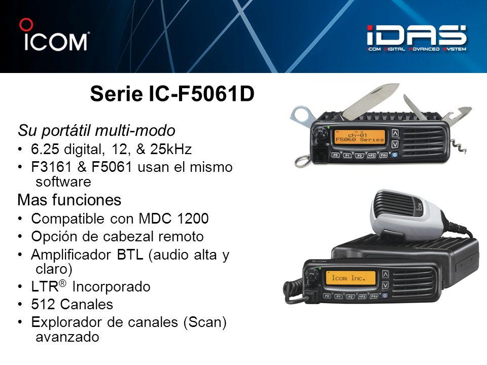 Serie IC-F5061D Su portátil multi-modo Mas funciones