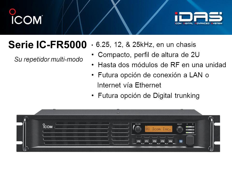 Serie IC-FR5000 • Compacto, perfil de altura de 2U