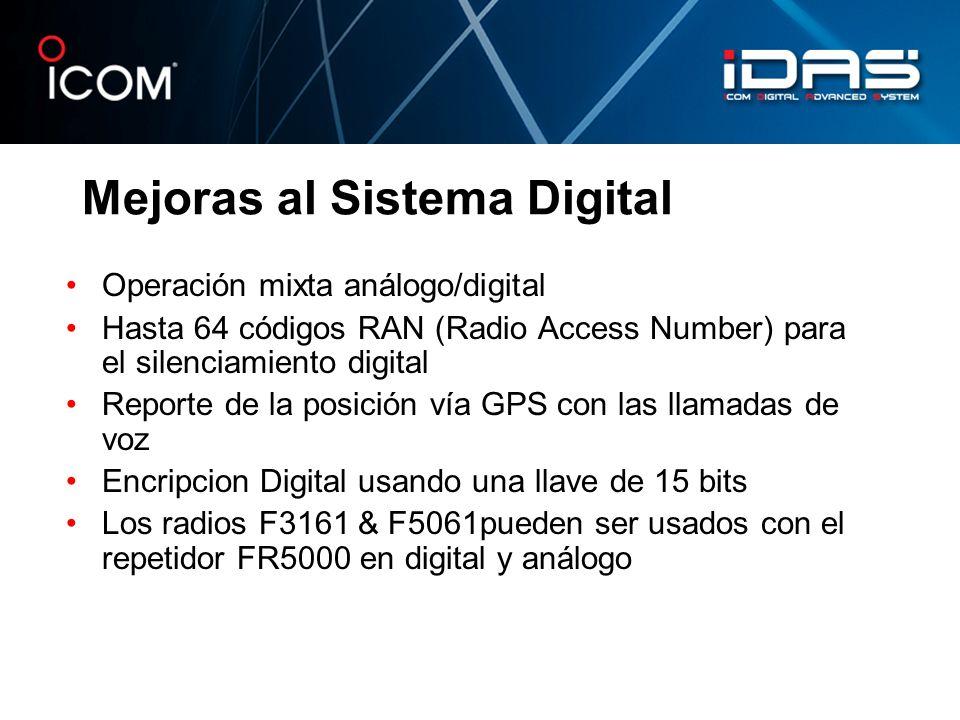 Mejoras al Sistema Digital