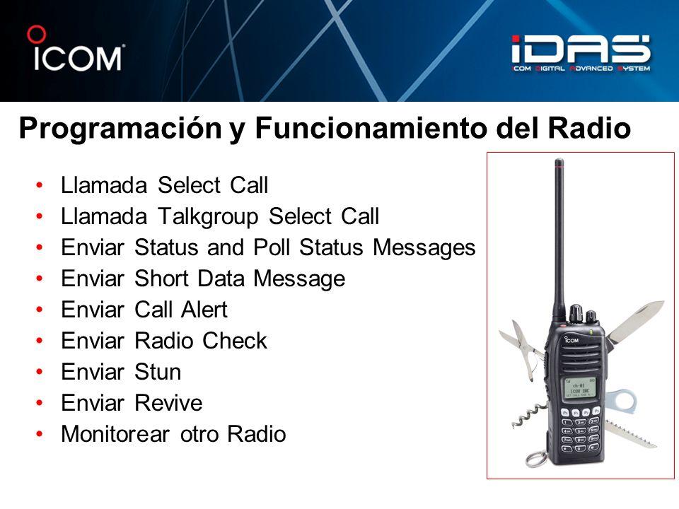 Programación y Funcionamiento del Radio