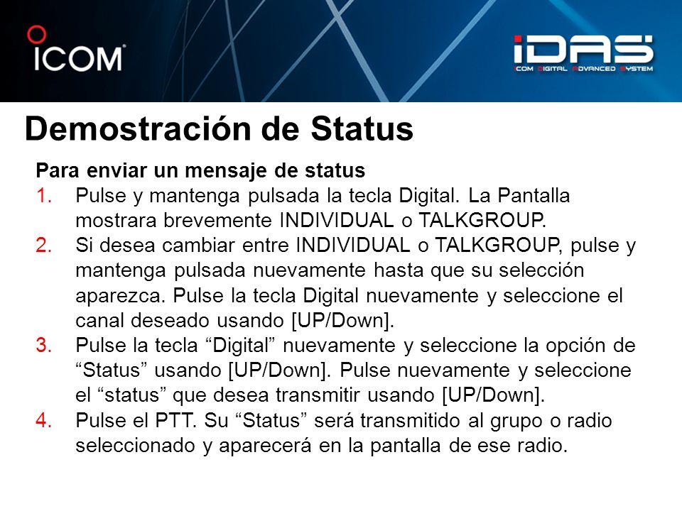 Demostración de Status