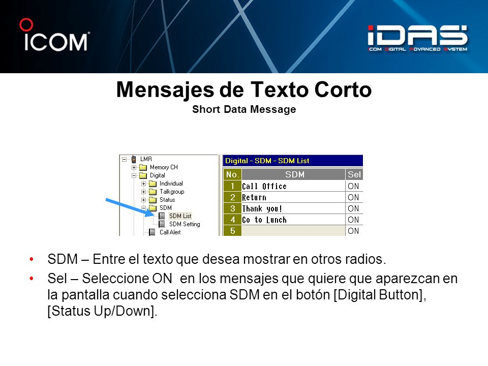 Mensajes de Texto Corto Short Data Message
