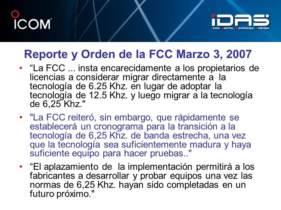 Reporte y Orden de la FCC Marzo 3, 2007