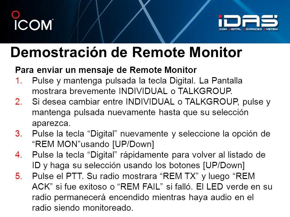Demostración de Remote Monitor